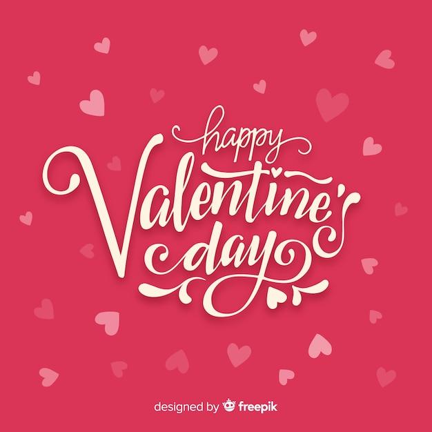 Van letters voorziende valentijnskaartachtergrond Gratis Vector