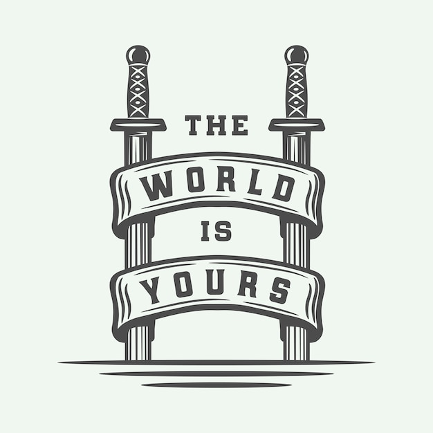 Vechten typografie poster Premium Vector