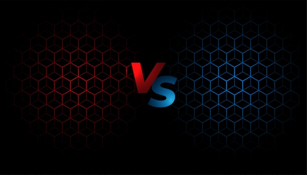 Vechtscherm versus versus achtergrondsjabloonontwerp Gratis Vector