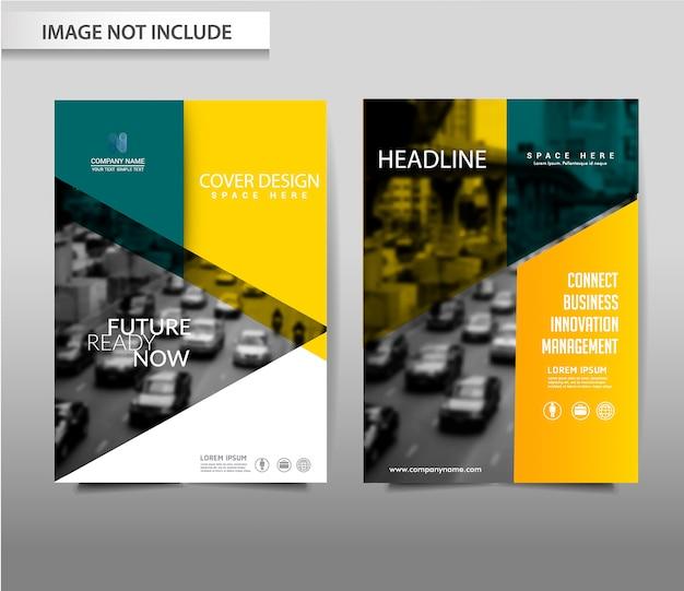 Vector abstracte achtergrond brochure flyer-sjabloon Premium Vector