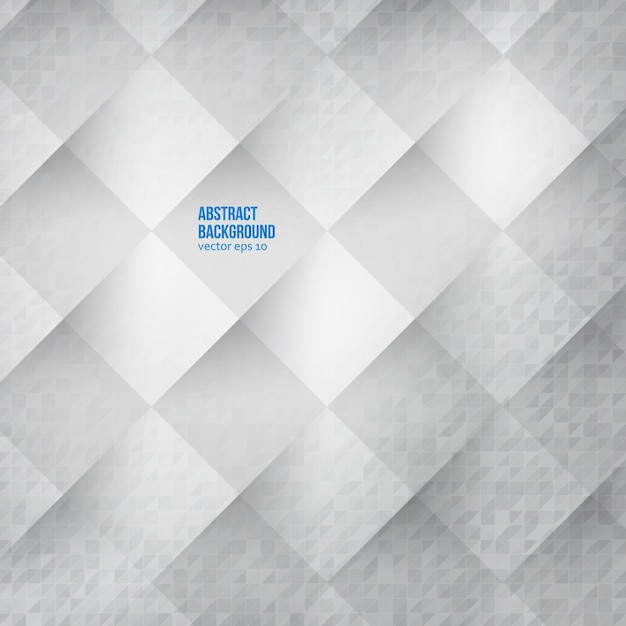 Vector abstracte achtergrond. vierkanten wit Gratis Vector