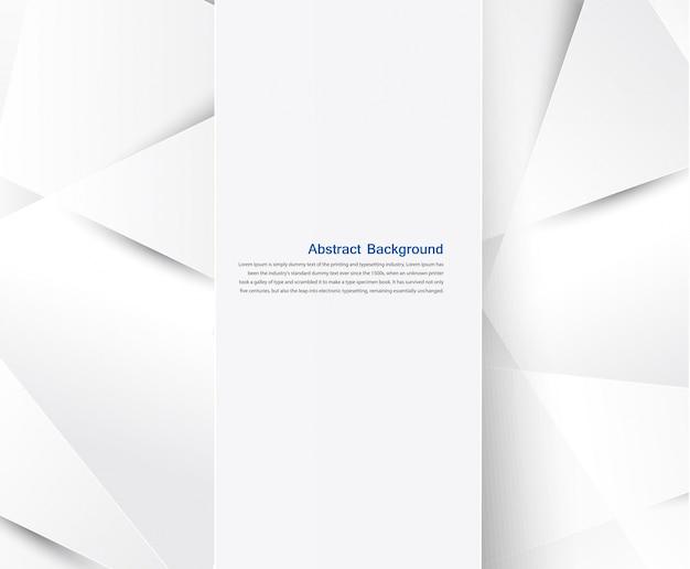Vector abstracte achtergrond. wit geometrisch Gratis Vector