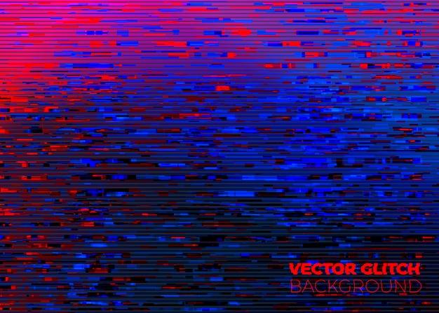 Vector abstracte glitched monitorachtergrond Premium Vector