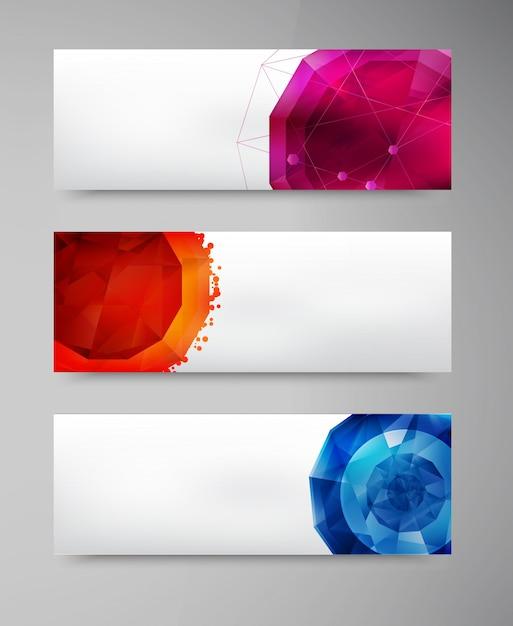 Vector abstracte juweel en blauw ijs Gratis Vector