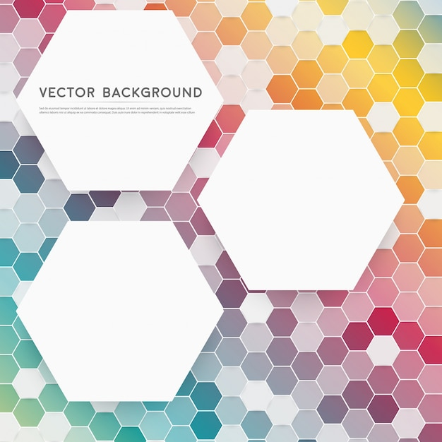 Vector abstracte kleur 3d hexagonaal. Gratis Vector