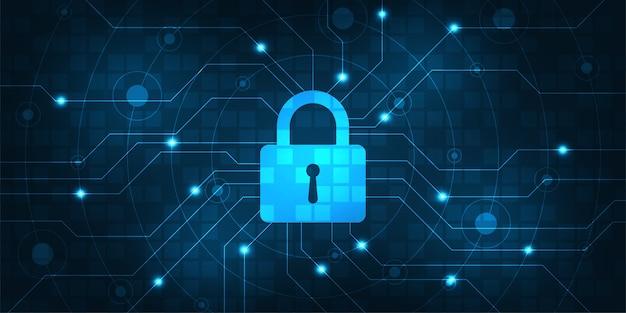 Vector achtergrond beveiligd digitaal beveiligingssysteem. Premium Vector