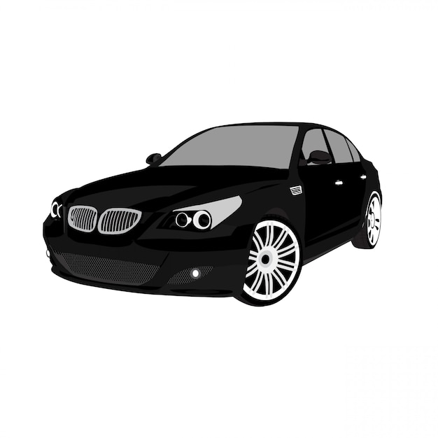 Vector auto illustreren op witte achtergrond volledige bewerkbare indeling eenvoudig maatwerk Premium Vector