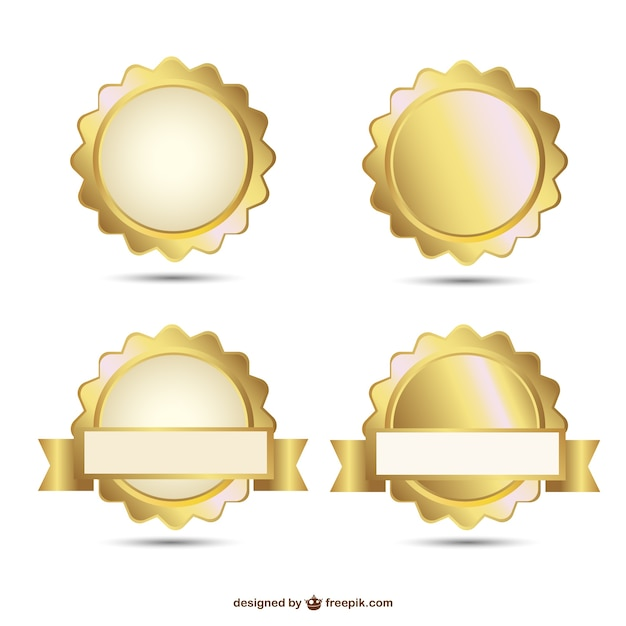 Vector badges gouden ontwerp van de afdichting Gratis Vector