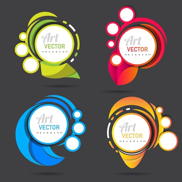 Vector banner collectie sjabloon Gratis Vector