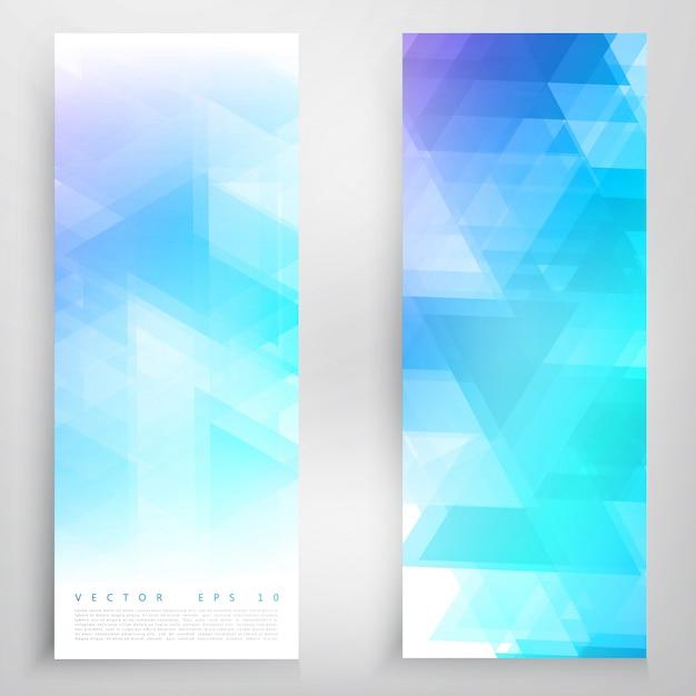 Vector banners en driehoeken. Gratis Vector