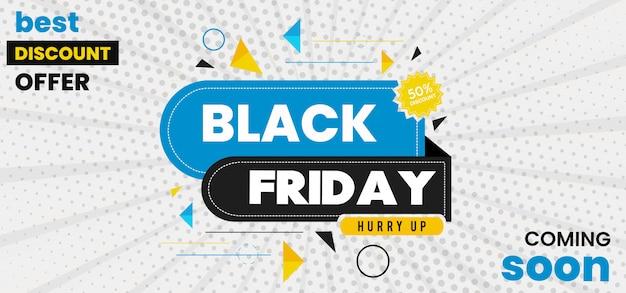 Vector black friday-banner Premium Vector