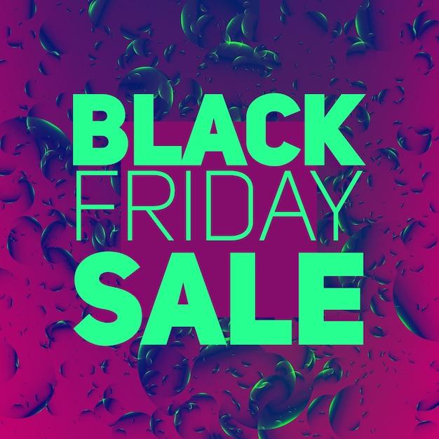 Vector black friday-verkoopsamenvatting Gratis Vector