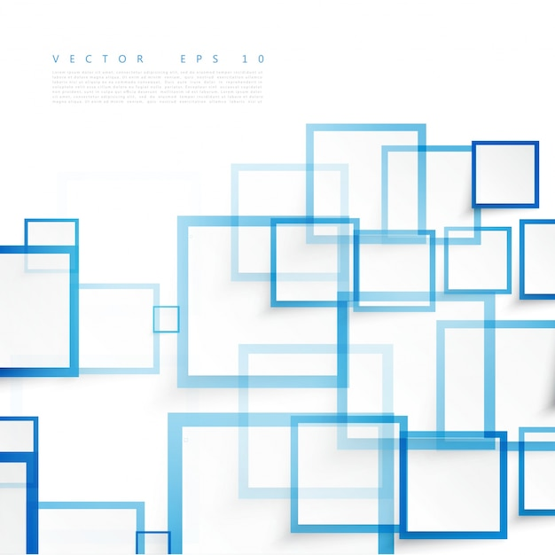 Vector blauwe vierkanten. abstracte achtergrond. Gratis Vector