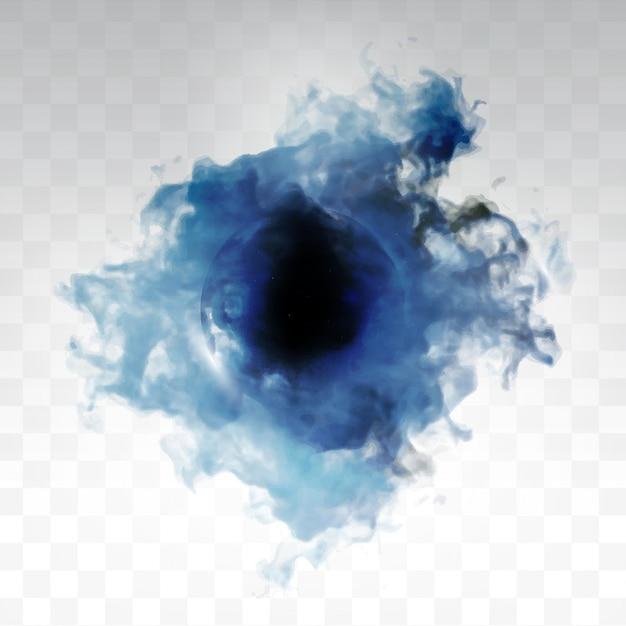 Vector blauwe wolk. Gratis Vector