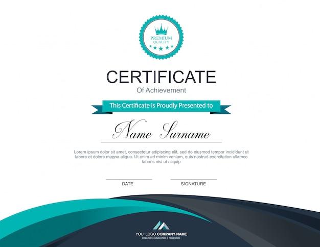 Vector certificaatsjabloon Premium Vector