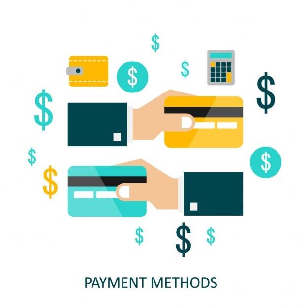 Vector concept van de betaalmethodes in vlakke stijl Gratis Vector