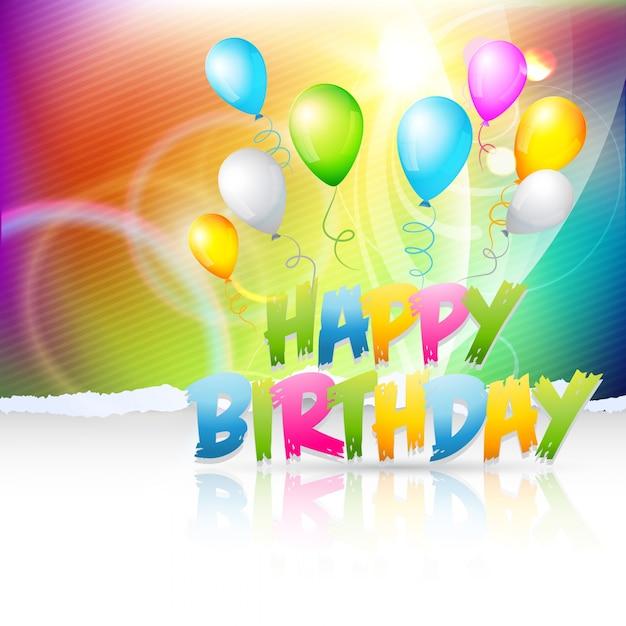 Vector Creatieve Achtergrond Van Verjaardag Vector Gratis Download