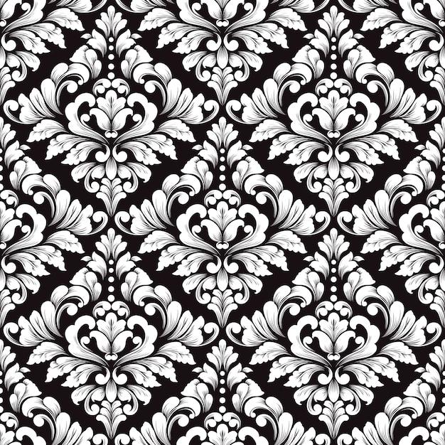 Vector damast naadloos patroon. klassiek luxe ouderwets damastornament voor behang Gratis Vector