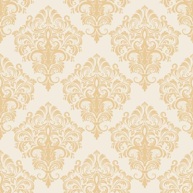 Vector damast naadloze patroon achtergrond. klassieke luxe ouderwetse damast ornament, koninklijke victoriaanse naadloze textuur voor wallpapers, textiel, wrapping. uitstekende bloemen barok sjabloon. Gratis Vector