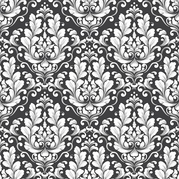 Vector damast naadloze patroon. klassiek luxe ouderwetse damast ornament, koninklijke victoriaanse naadloze textuur voor achtergronden, textiel, onmiddellijke verpakking. exquise bloemen barokke sjabloon. Gratis Vector