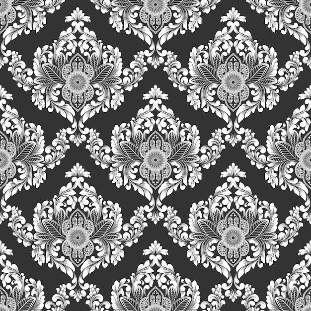 Vector damast naadloze patroon Gratis Vector