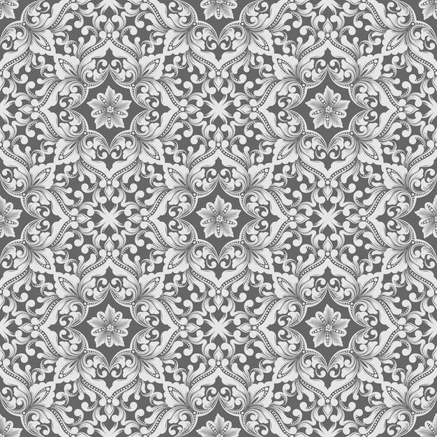 Vector damast naadloze patroon. Gratis Vector