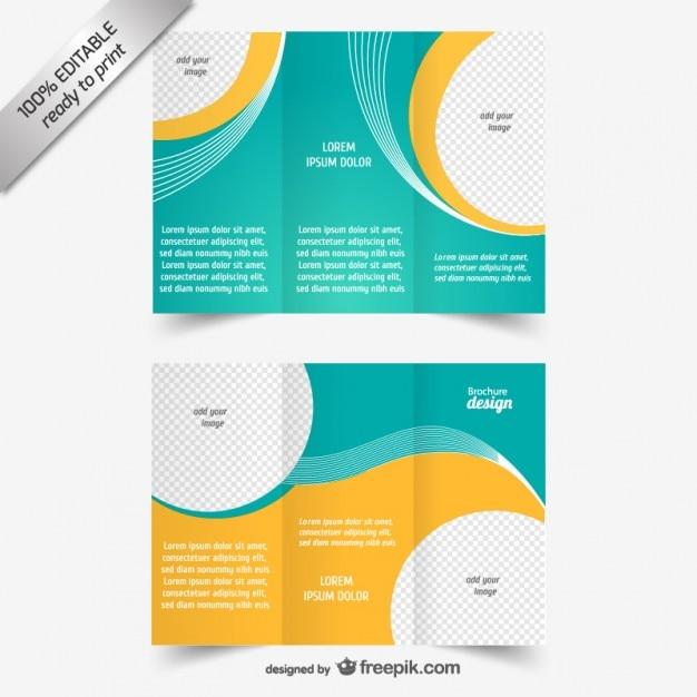 Vector drieën gevouwen brochure sjabloon Gratis Vector