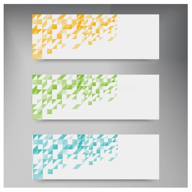 Vector driehoek kleur Gratis Vector