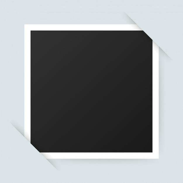 Vector fotolijstontwerp. realistische foto met lege ruimte voor afbeelding. . Premium Vector