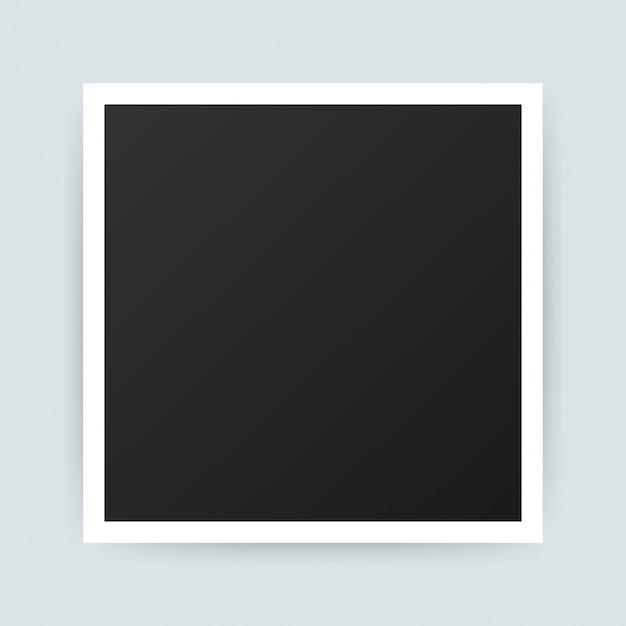 Vector fotolijstontwerp. realistische foto met lege ruimte. . Premium Vector
