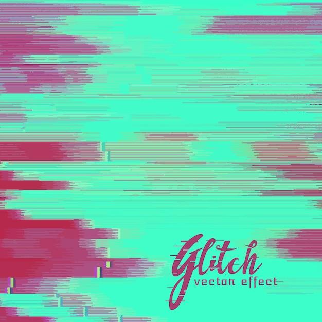 Vector glitch achtergrond met duotone schaduw Gratis Vector