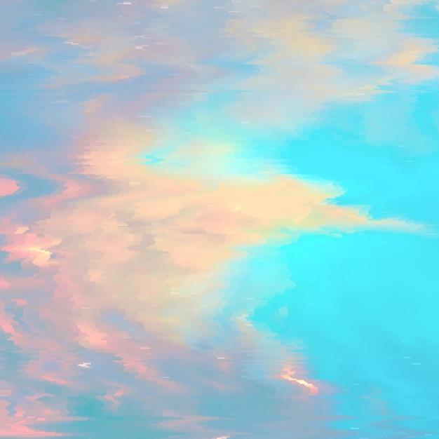 Vector glitch achtergrond. vervorming van digitale beeldgegevens. kleurrijke abstracte achtergrond voor uw ontwerpen. chaos-esthetiek van signaalfout. digitaal verval. Gratis Vector