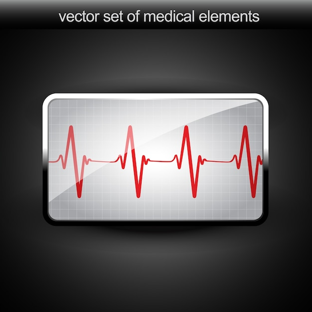 Vector hartslag grafiek Gratis Vector