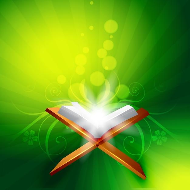 Vector heilig boek van quraan Gratis Vector