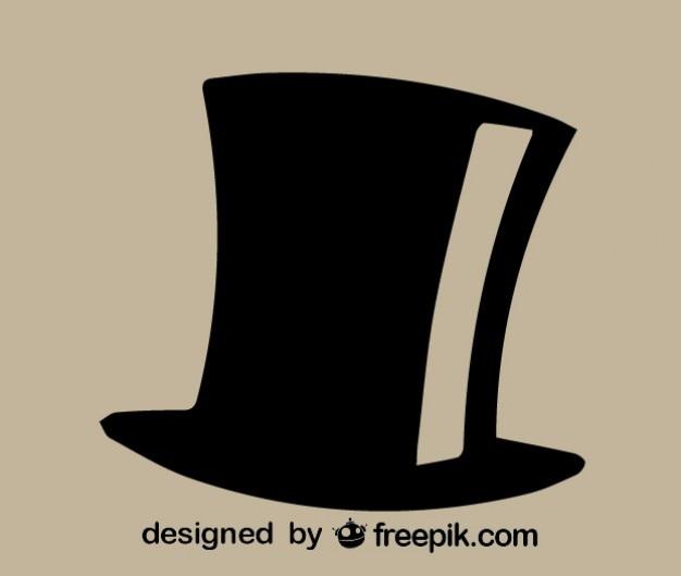 Vector hoge hoed icoon Gratis Vector