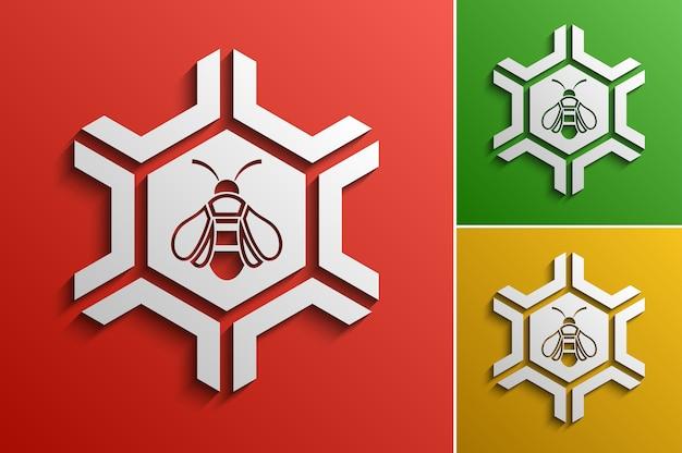 Vector honey bee logo ontwerpsjabloon, gestileerde bedrijfslogo idee Premium Vector