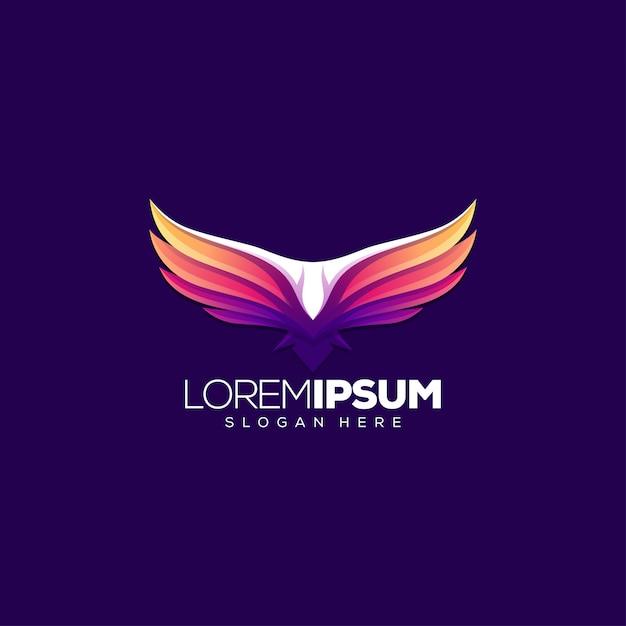 Vector illustratie adelaar logo ontwerp Premium Vector