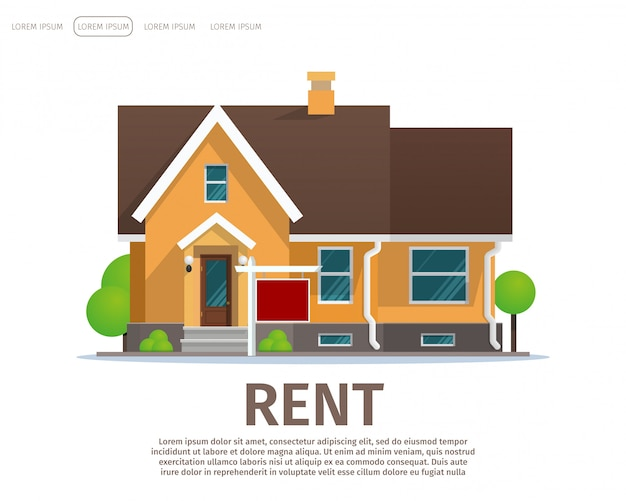Vector illustratie cartoon concept huur huis Gratis Vector