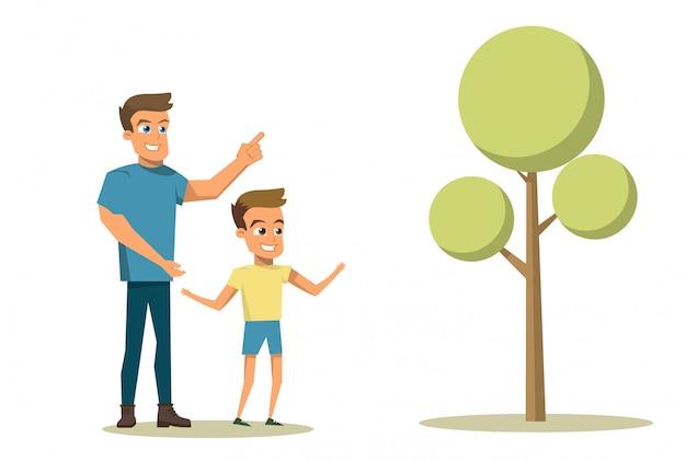 Vector illustratie cartoon gelukkig familie concept Gratis Vector