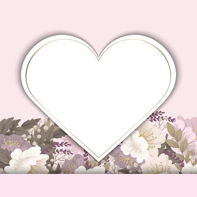 Vector illustratie met een hart. perfectioneer voor valentijnsdag, verjaardag, sparen de datumuitnodiging Gratis Vector