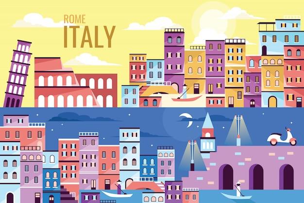 Vector illustratie prachtige italië Premium Vector
