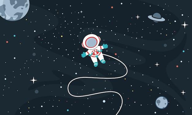 Vector illustratie van de ruimte achtergrond Premium Vector