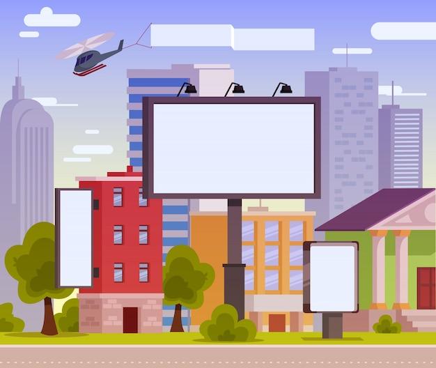 Vector illustratie van een reclame billboard Gratis Vector