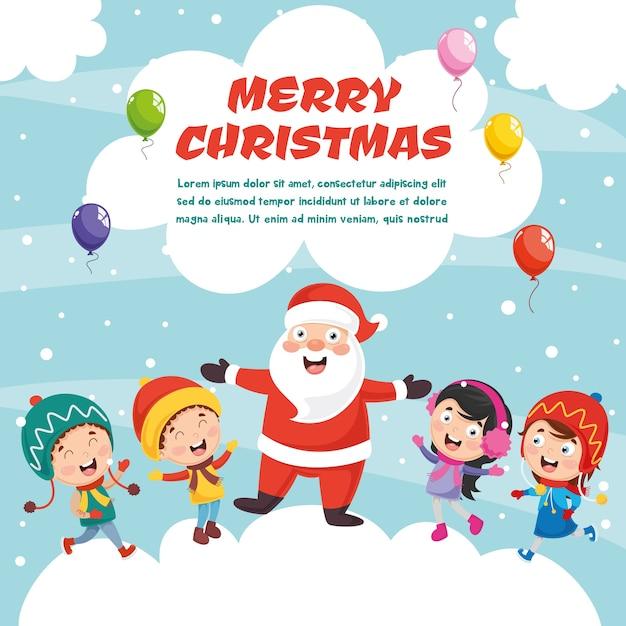Vector illustratie van kerstmis Premium Vector