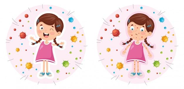 Vector illustratie van kinderen hygiëne Premium Vector