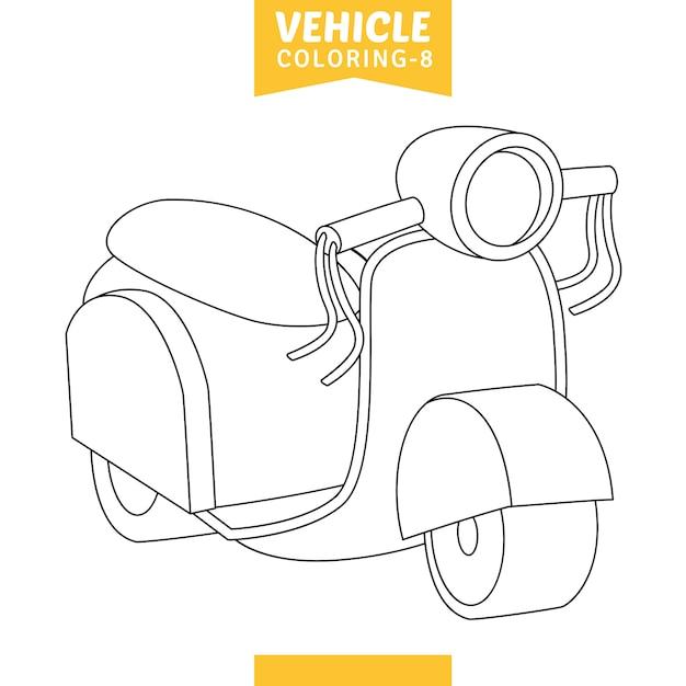 Vector illustratie van kleurplaat voertuig Premium Vector