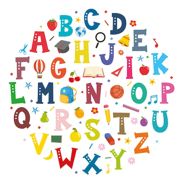 Vector illustratie van lettertype conceptontwerp Premium Vector