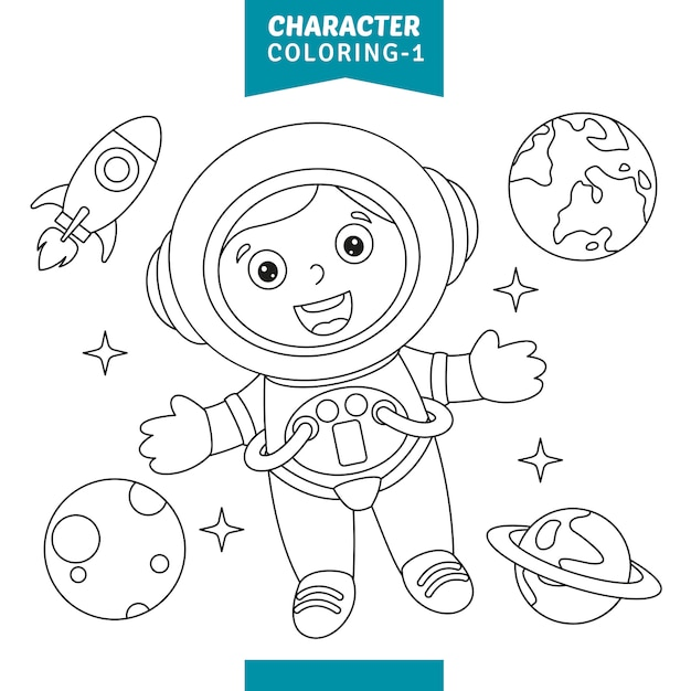 Vector illustratie van teken kleurplaat Premium Vector
