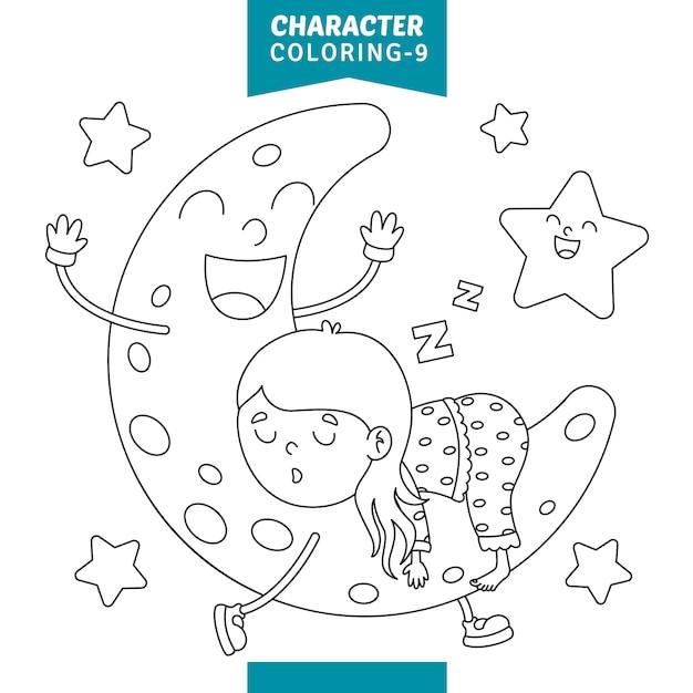 Kleurplaten Leeuwenkop.Vector Illustratie Van Teken Kleurplaat Vector Premium Download