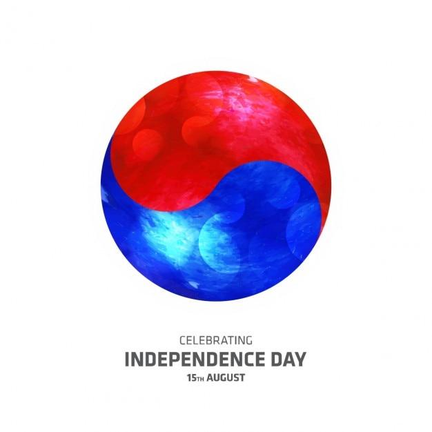 Vector illustratie van zuid-korea onafhankelijkheidsdag Gratis Vector